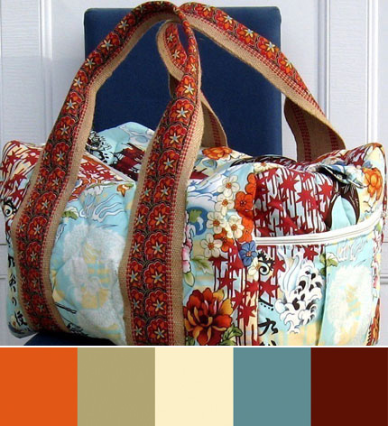 World Traveler Duffle Bag by Studio Cherie on Etsy