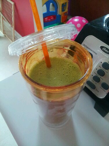 Finished smoothie! Promise it tastes better than it looks...