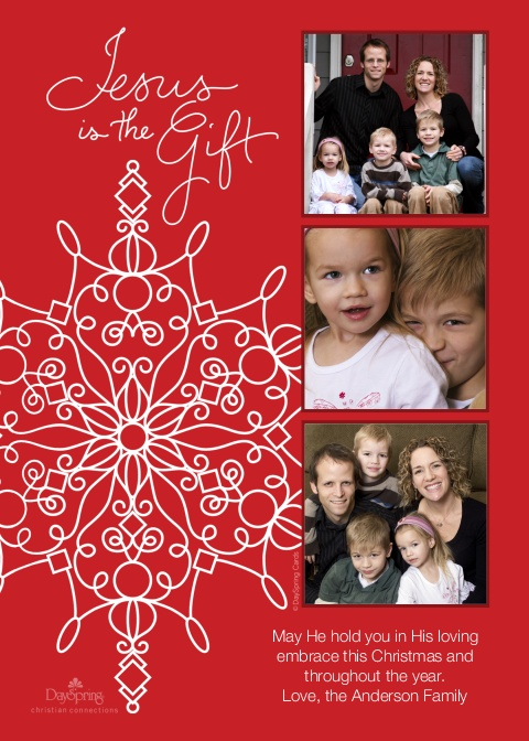 Jesus is the Gift Photo Christmas Card