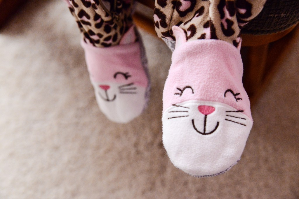 Kitty PJs in the morning